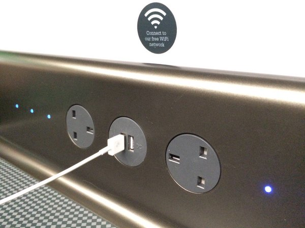 GWR USB and power sockets