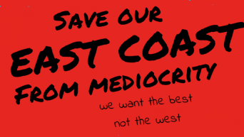 Save East Coast from mediocrity